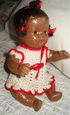 Doll Details Unmarked Composition Black Baby Doll Ca