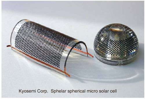 Where you should find bargain solar cells as well as tips on steps to make your own solar cells from home.  http://netzeroguide.com/cheap-solar-cells.html Sphelar Spherical Solar Cell