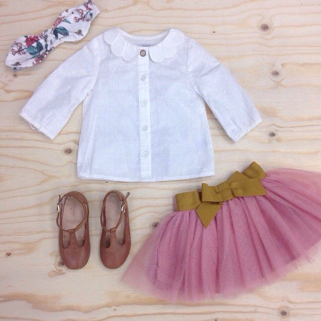 Be one step ahead this Spring with a classic white shirt and a delicate tutu. #mamasandpapas