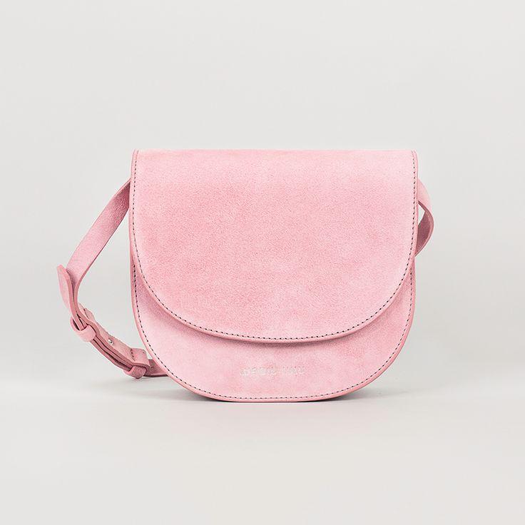 Wauw & Lulu pink suede bag