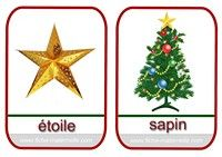 imagier de Noël etoile et sapin