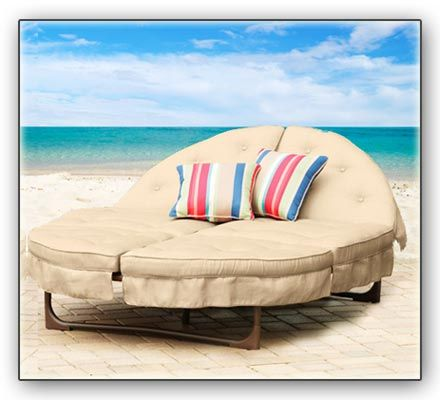 An Orbit Lounger on Beach - This double chaise lounge is ...