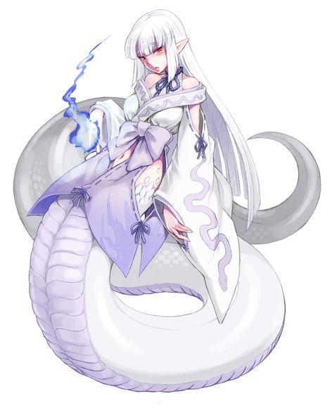 Shirohebi - Monster Girl Encyclopedia Wiki - Wikia