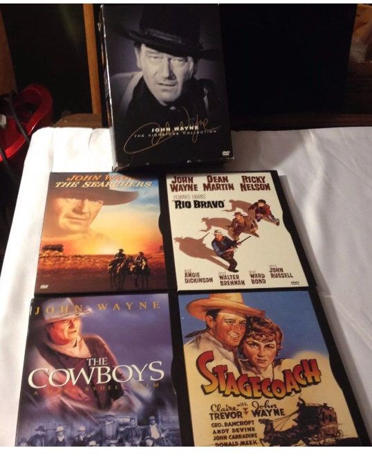 A personal favorite from my Etsy shop https://www.etsy.com/listing/501539831/john-wayne-western-movies-lot-of-9-dvds