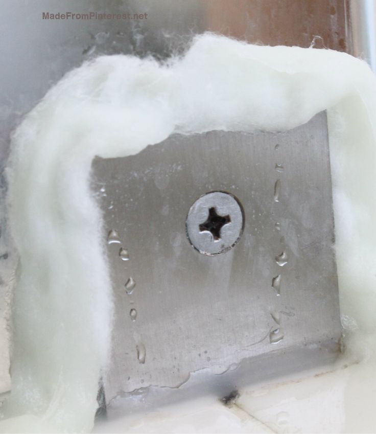 My grout brush could never reach into the nooks and crannies of my shower. This method requires NO scrubbing and removes any mold trapped in impossible to reach places. MadeFromPinterest.net