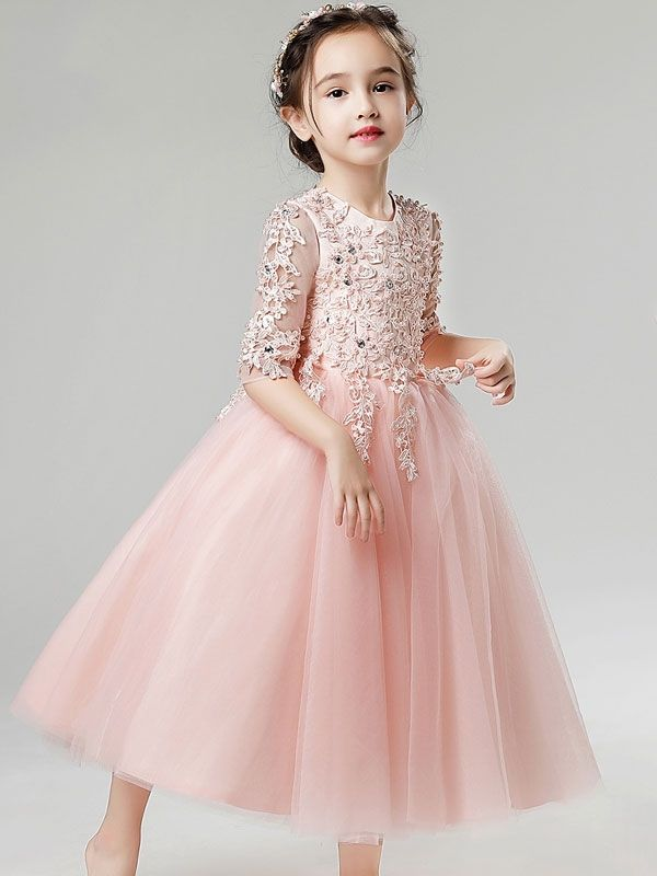 e5a10e4eb8b3d Embroidery Sequined Shivering Round Collar Half Sleeves Long Dress ...