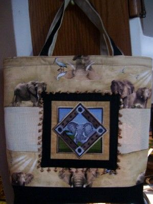 Custom mesh tote with embroidery and trim