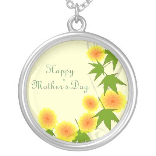 Floral Deco - Mother's Day Necklace by Elenaind #Zazzle