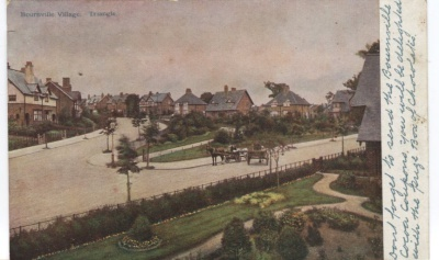 Unknown Publisher Postcard - Cadbury's Advertising Card - Bournville Village Triangle