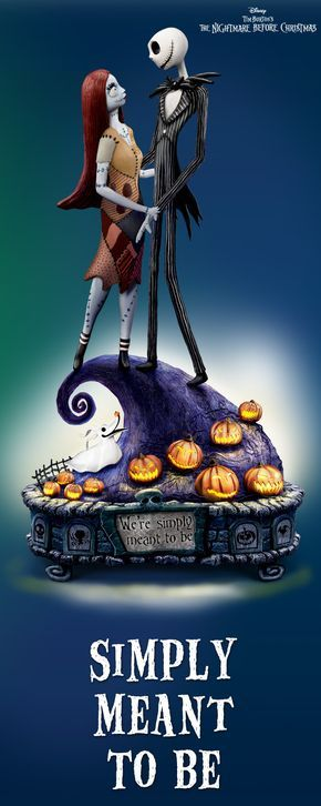 *JACK & SALLY's ~ magical moment is preserved forever in The Nightmare Before Christmas musical figurine. It lights up!