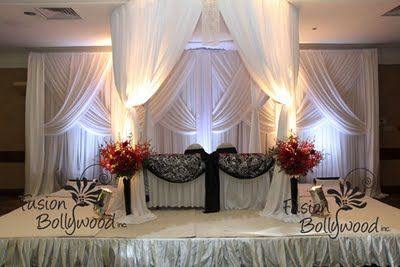 really beautiful backdrop - love the Archway draping to frame the Bride & groom
