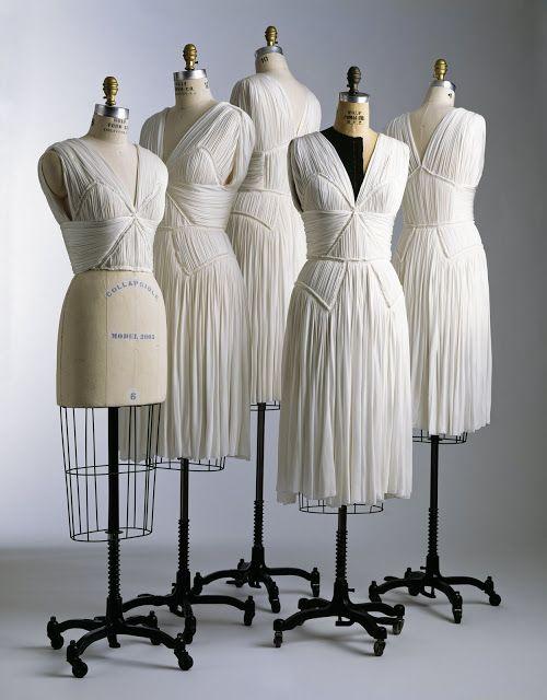Inspiration:isabel toledo's diamond draped bodice dresses, finished and unfinished, fall 2005