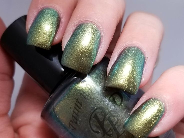Paint It Pretty Polish  It ain't over till it's clover Gold green nail polish