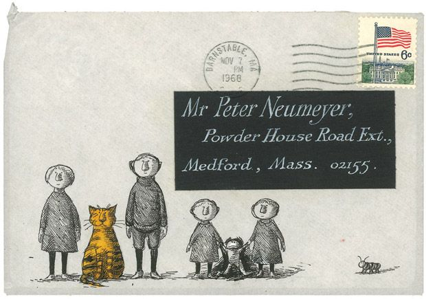 Floating Worlds – the never-before-published illustrated correspondence of Edward Gorey and Peter F. Neumeyer