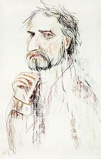 Портрет Николая Эстиса  Художник Лидия Шульгина  1985 г.