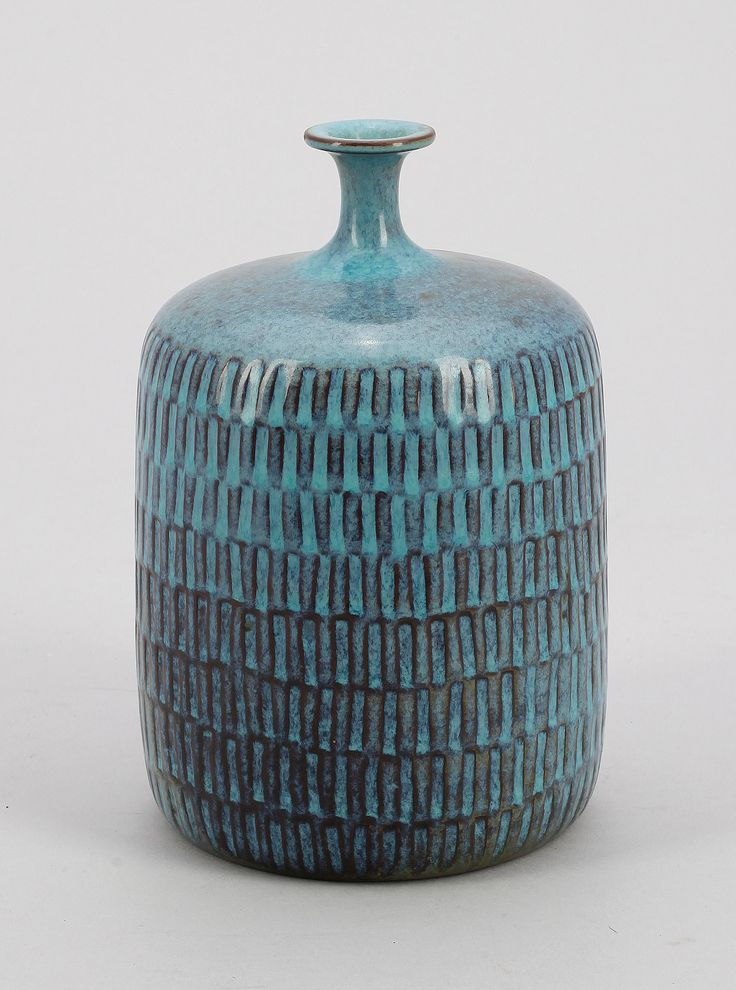 ** Stig Lindberg (Swedish 1916-1982), Glaze decorated Stoneware.