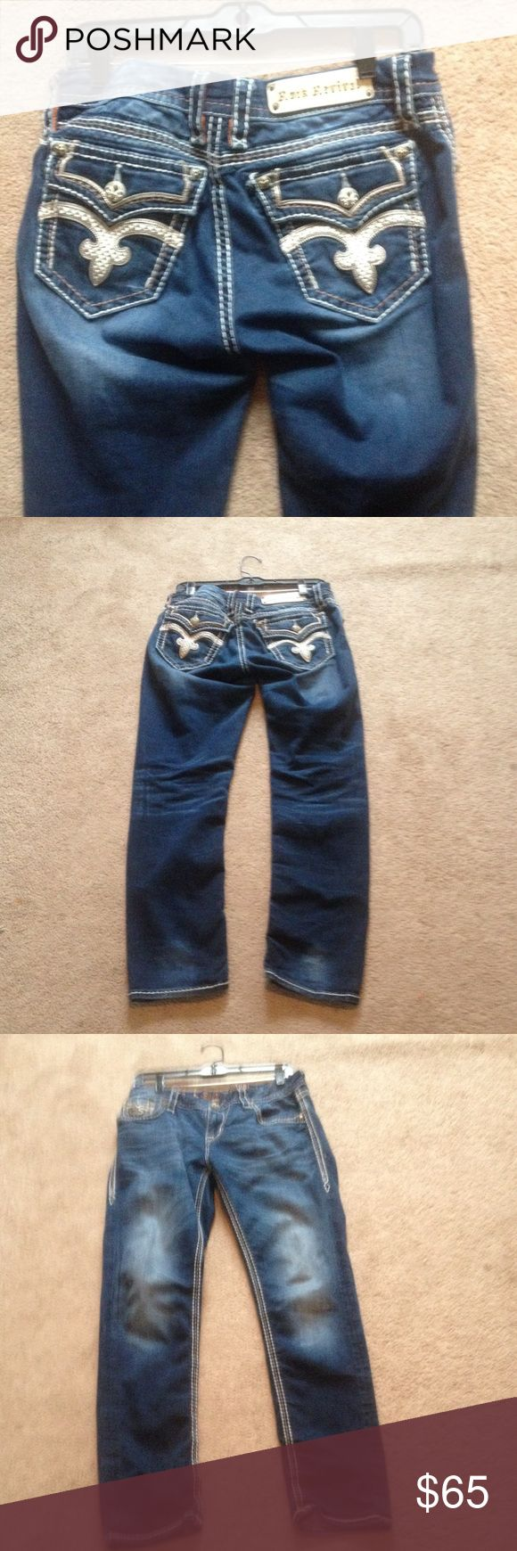 Rock revival jeans Great condition just too big for me would love to trade for a smaller size but if not want to sell Rock Revival Jeans