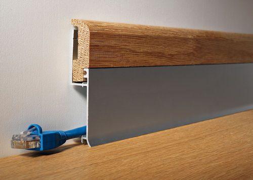 Plinthe en aluminium / pour cablage électrique BATTISCOPA BI BICOLOR PROFILITEC