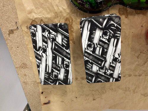 Box cigarette électronique motif beretta   impression hydrographique