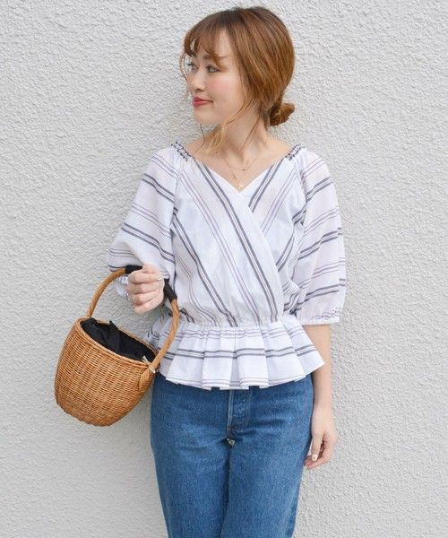 【ZOZOTOWN|送料無料】Khaju(カージュ)のシャツ/ブラウス「《予約》 Khaju:2WAYストライプカシュクールブラウス◆」(321-51-0079)を購入できます。
