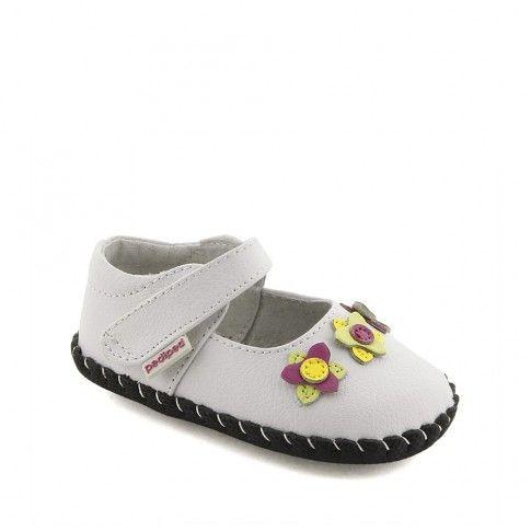 Pantofi bebelusi Salome White Multi - pediped
