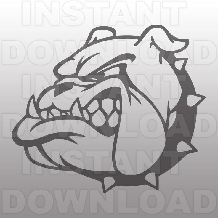 Bulldog Mascot SVG File-Cutting File-Clip Art for Commercial and Personal Use-Vector art file for CricutCameoSizzixPazzlesDecalVinyl