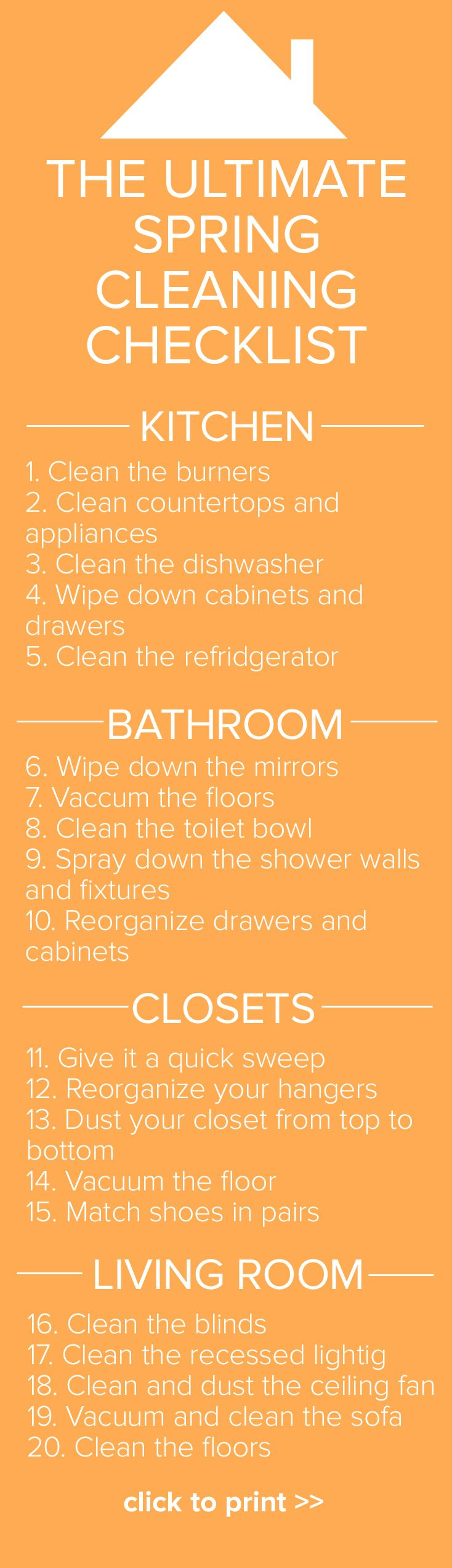 Spring cleaning kitchen cabinets - The Ultimate Spring Cleaning Checklist