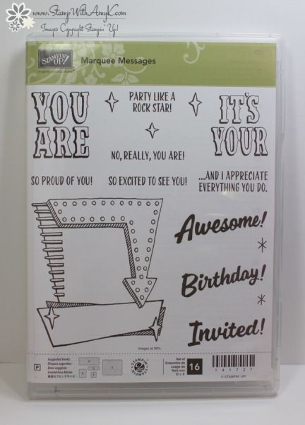 Stampin' Up! Marquee Messages for the Happy Stampers Blog Hop – Stamp With Amy K