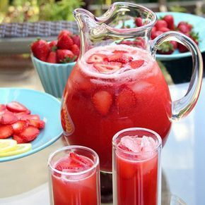Δροσιστική Λεμονάδα Με Φράουλες / Strawberry Lemonade