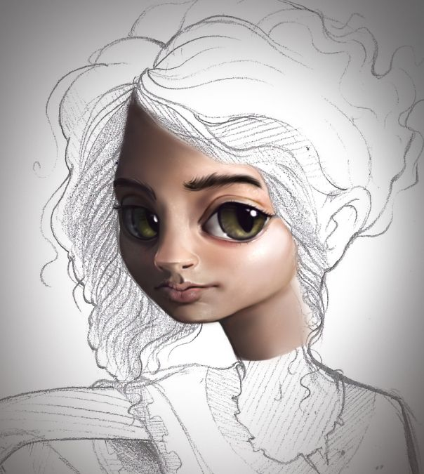 A character I'm working on from my evolving book. Very much inspired by the lovely Marina Nery.