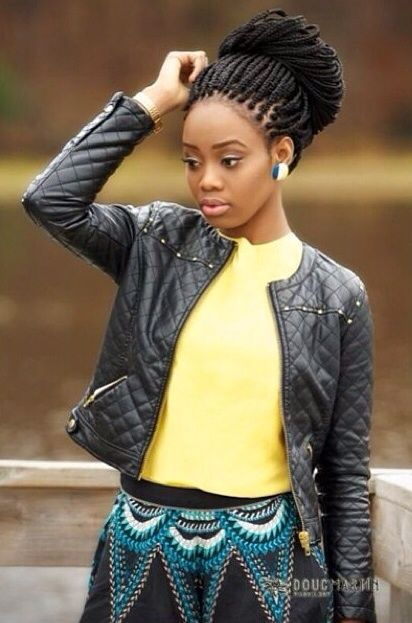 Magnificent 1000 Images About Jumbo Box Braids On Pinterest Jumbo Box Hairstyles For Men Maxibearus