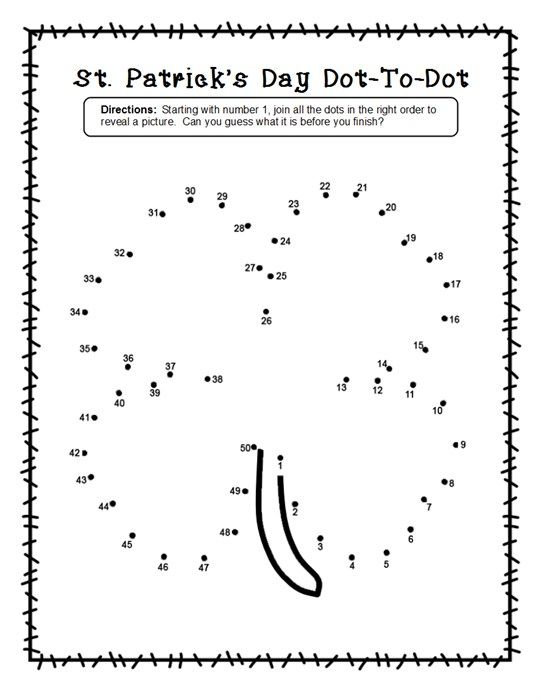 2 Shamrock Dot To Dot Worksheets For St Patrick S Day