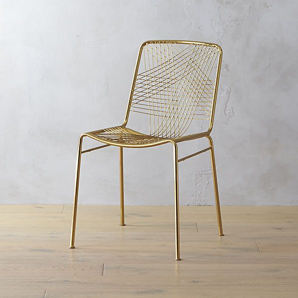 comes in rose gold too/with sheepskin pad on top?  alpha brass chair  | CB2