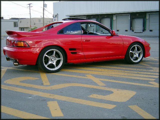 1993 Toyota MR 2 Turbo. Overpainted side stripe. Nice.