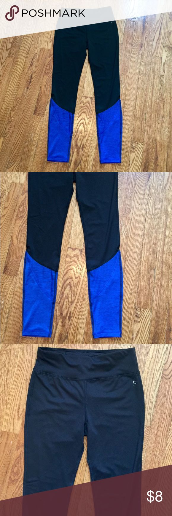 Black and Blue Leggings Super cute black and royal blue leggings from Danskin! Size is XS, but I typically wear a small in leggings (Nike, adidas, etc.) and these fit me. Worn maybe twice, still in perfect condition 😊 Danskin Pants Leggings