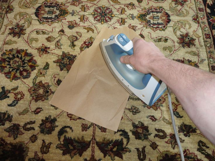 how to clean melted wax off carpet