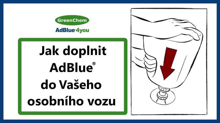 Jak doplnit AdBlue od GreenChem CZ do Vašeho osobního vozu