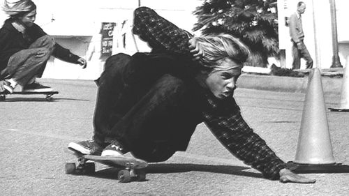 """I believe this photo of Jay is the most stunning and strikingly clear representation, of any photo ever taken, of modern skateboarding. It contains all the elements that make up what modern-day skateboarding has become: awesome aggression and style, power and fury, wild abandon, destruction of all fear, untamed individualism, and a free-spirited determination to tear, shred, and rip relentlessly. Jay should've had it all, and it makes me so sad that he didn't.""   –Stacy Peralta"