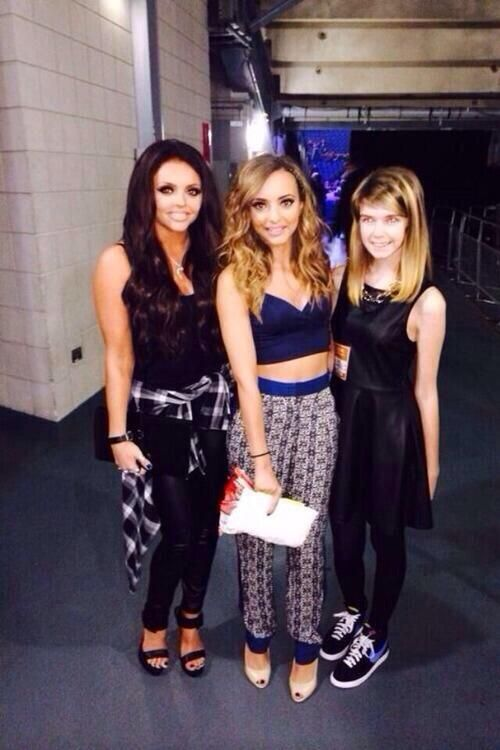 Jesy and Jade with a mixer.