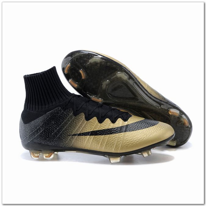 Nike Mercurial Superfly 4 FG CR7 Ronaldo Gold Soccer Cleats-Only $110.00