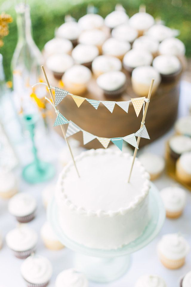 Vintage, Michigan Wedding, Wedding Decor, James Saleska Photography, Wedding Photography, Vases, Mustard, Mint, Teal, Peacock, White, Mix and Match, Glass, Homemade, DIY Wedding, Vintage Wedding, Wedding Decor, Cake Table, Sweets, Outdoor Wedding, Summer Wedding, Modern Design, Wood, Pennant Banner, Twine, Skewers, Cupcake Flags, Cake Stand
