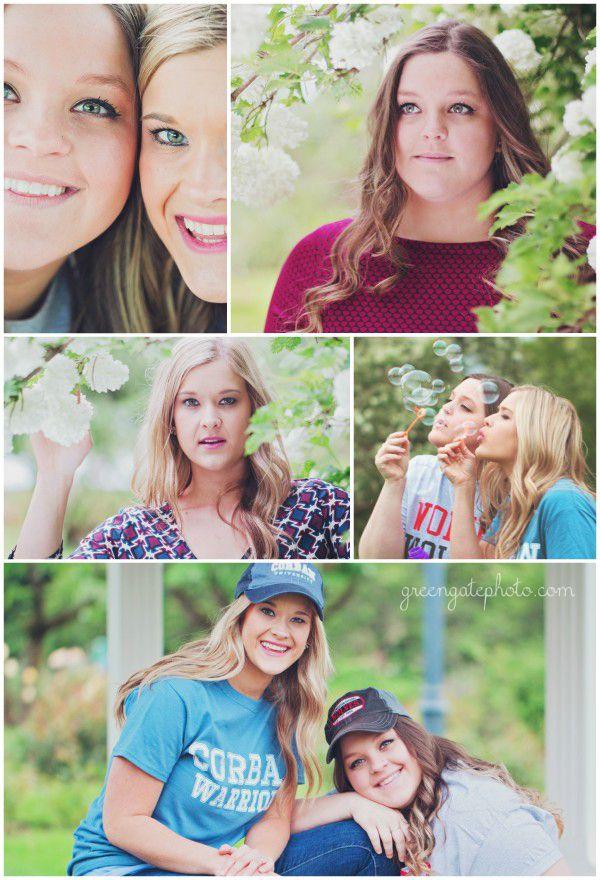 Sisters/twins college graduation portraits