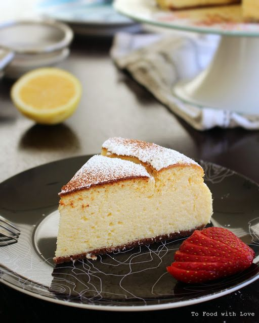 To Food with Love: Light and fluffy Ricotta Cheesecake (with homemade ricotta)