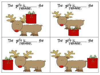 FREE Reindeer Games: preposition activity!