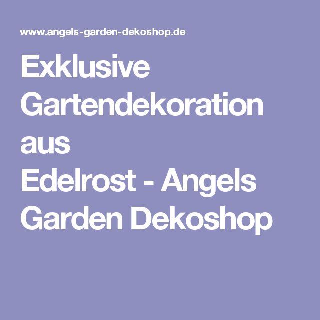 Exklusive Gartendekoration aus Edelrost-Angels Garden Dekoshop