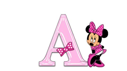❤️The Letter A ~ Minnie Mouse Pink Alphabet