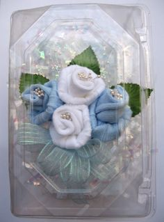 baby sock corsage for mother to be.