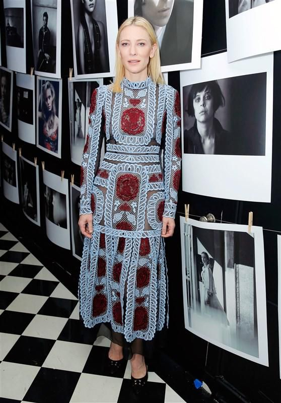 Cate Blanchett at W mag's Golden Globes party - Cate Blanchett, Saoirse Ronan and more go glam for W mag's pre-Globes party