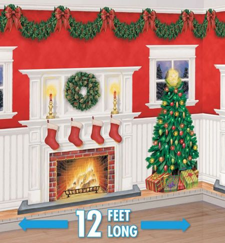 Christmas Scene Setters - Christmas-Themed Vinyl Wall Decorations - Party City