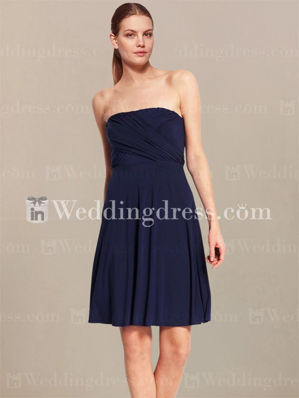 Strapless Casual Bridesmaid Dress BR399 I like the cute
